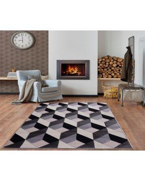 Modern Geometric Design Grey Beige area Rug Runner