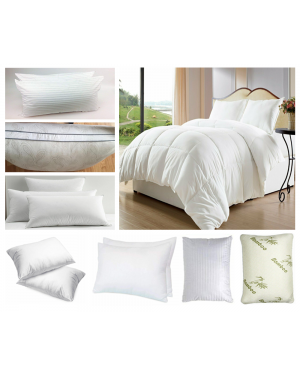 Top Quality Hollowfiber Duvet Quilt Single Double King Superking All Togs Anti-Allergenic Pillows