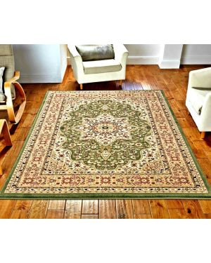 lonwale Vintage carpet Floral Large Area Green Rug