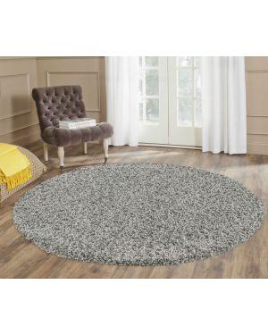 50mm Thick Ashely Grey Round Center Piece Rug