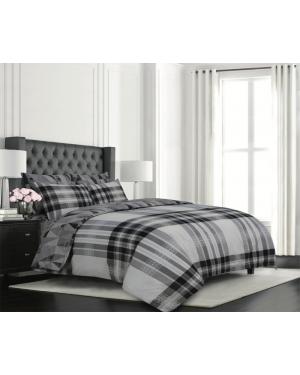 Sopron cotton complete bedding set printed design Light Grey
