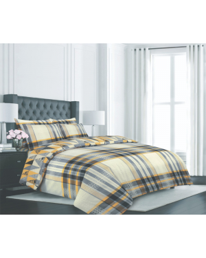 Sopron cotton complete bedding set printed design Orange Red
