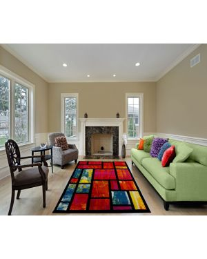 Tofino Multi Colours Rectangle Rug