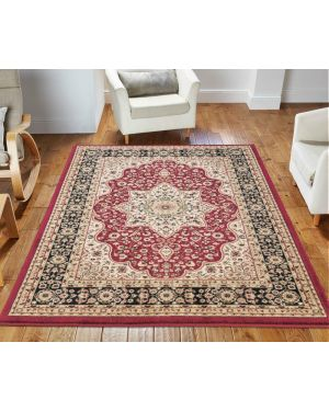 lonwale Vintage carpet Floral Large Area Red Rug