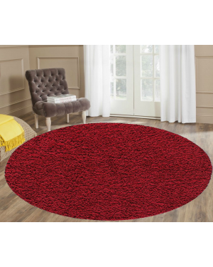 Non slippery Red Ashely Round Center Piece Rug