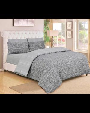 Sopron cotton complete bedding set printed design Silver Dark