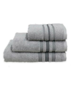 Gambo Silver Hand/Bath Towels Bath Sheets 500gsm Pure Egyptian Cotton