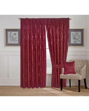 Amber Jacquard Tape Top Pencil Pleat Window Curtains/Cushion Cover