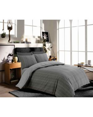 Tata grey cotton rich complete bedding set