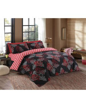 Tata cotton rich complete bedding set in Black