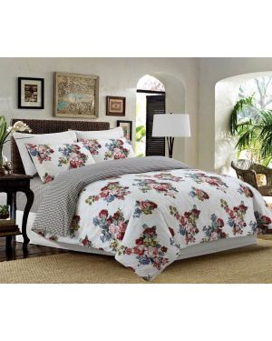 Sopron Complete Cotton Bedding Set Printed Design in White