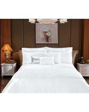 Revolvo White 3 piece sequin duvet cover set